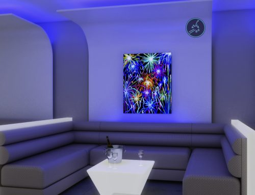 PINTURAS FLUORESCENTES. DECORAR RESTAURANTES