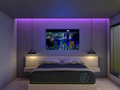 Vicky-Casellas.-Venta-arte-fluorescente.-Bahía-de-Hong-Kong.-Luz-fluorescente