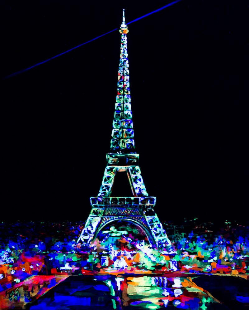 Torre Eiffel fluorescente