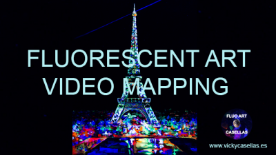 Vicky-Casellas.-Arte-fluorescente.-Torre-Eiffel.-Video-mapping.-Animación