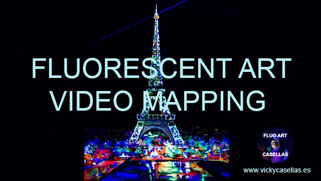 Vicky-Casellas.-Arte-fluorescente.-Torre-Eiffel.-Video-mapping.-Animación